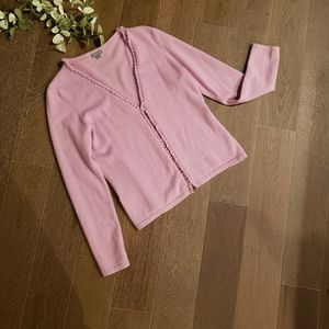 Ann Taylor Cashmere Pink Sweater Set Medium